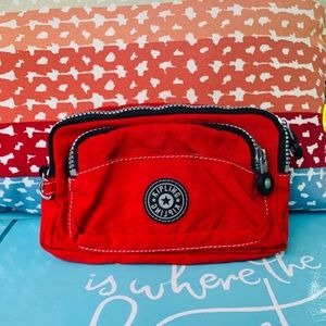 Kipling Red Small Pouch/Make Up Bag